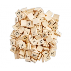 200 Mini letras scrabble 1.5cm