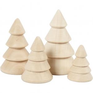 4 árboles navidad