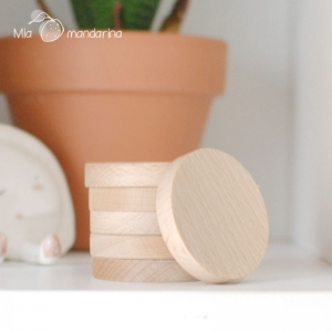 Círculo madera pequeño 5x0.8 cm