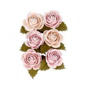6 Mini flores papel  4.5 cm