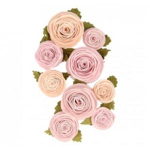 9 Mini flores papel  2-4 cm