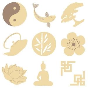 27 Mini siluetas Zen