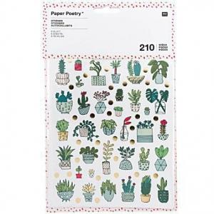6 hojas 210 Pegatinas plantas