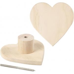 Colgador madera corazón 11 cm