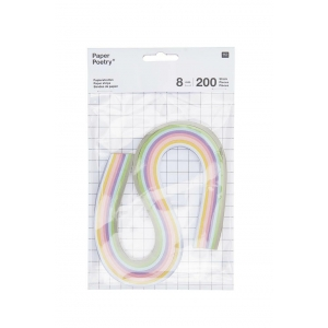 200 tiras Quilling Pastel 8 mm