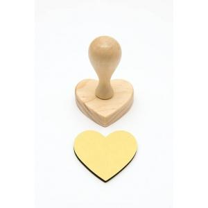 Base sello corazón 6 cm