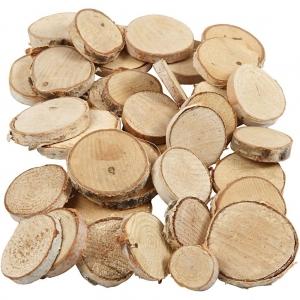 10 Rodajas madera 2-4 cm
