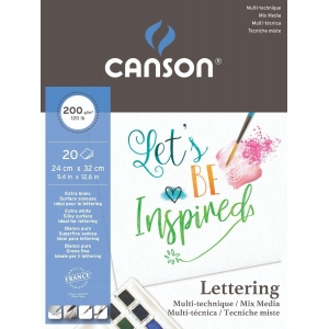 Bloc A4+ Canson Lettering Mix Media