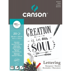 Bloc A4+ Canson Lettering Rotulador