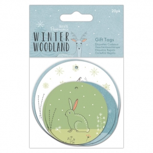 20 etiquetas winter woodland