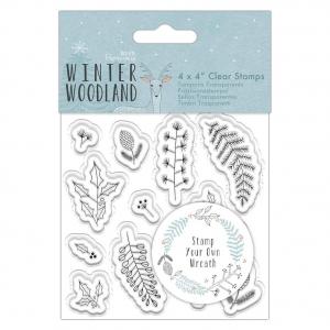 Sello acrílico wreath winter woodland