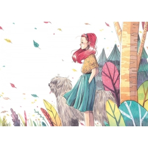 Oso y Lola - Lámina A4 Esther Gili