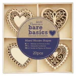 20 Mini siluetas filigree hearts