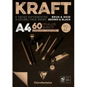 Bloc A4 90 gr Kraft Brun and Noir