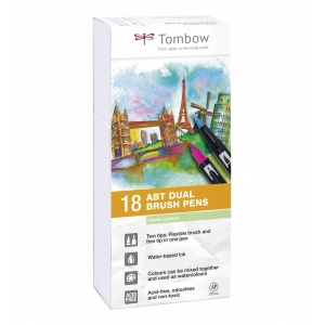Set 18 rotuladores tombow Pastel