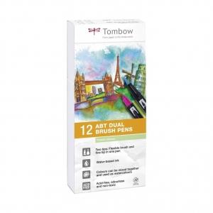 Set 12 rotuladores tombow pastel