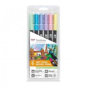 Set 6 rotuladores tombow Pastel