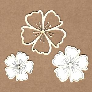 Chipboard Flor de almendro