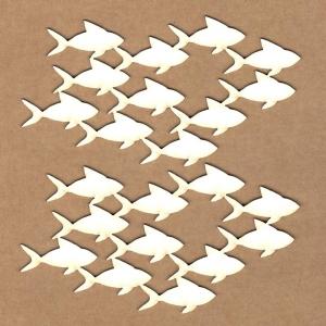 Chipboard Fondo peces