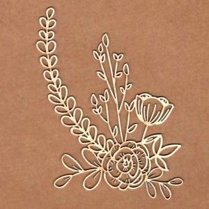Chipboard Ikebana