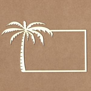 Chipboard Marco con palmera