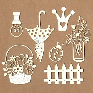 Chipboard Set Princess Garden