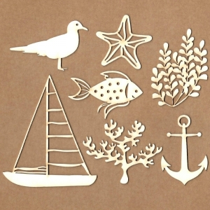 Chipboard Set Sea Time