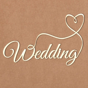 Chipboard Wedding