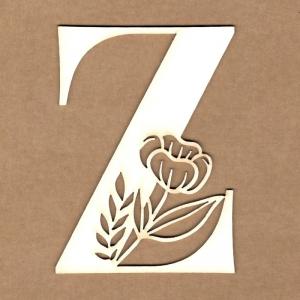 Letra inicial floral Z