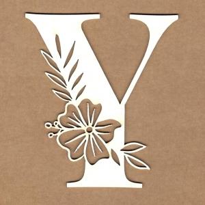 Letra inicial floral Y