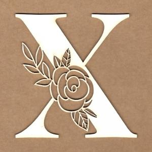 Letra inicial floral X