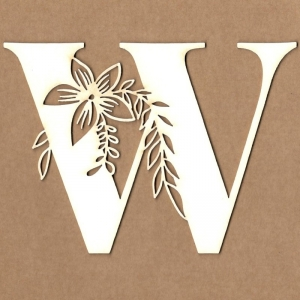 Letra inicial floral W