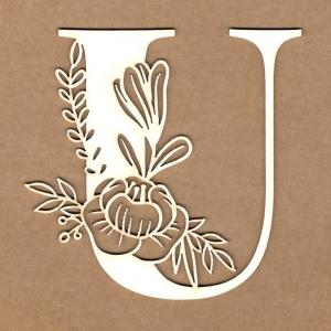 Letra inicial floral U