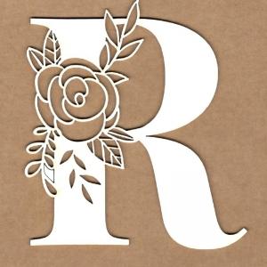 Letra inicial floral R