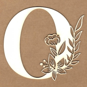 Letra inicial floral O