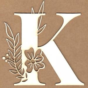 Letra inicial floral K
