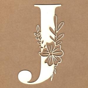 Letra inicial floral J