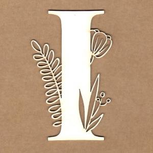 Letra inicial floral I