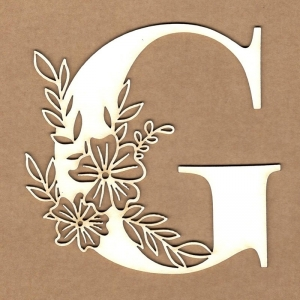 Letra inicial floral G