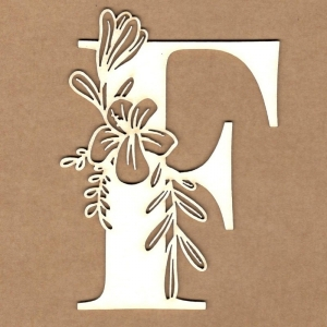 Letra inicial floral F