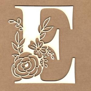 Letra inicial floral E