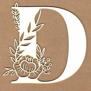Letra inicial floral D