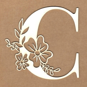 Letra inicial floral C