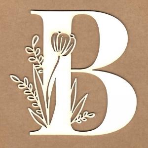 Letra inicial floral B