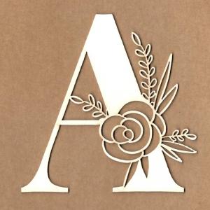 Letra inicial floral A