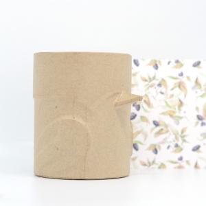 Bote para lápices pájaro cartón craft