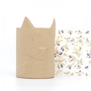 Bote para lápices gato cartón craft