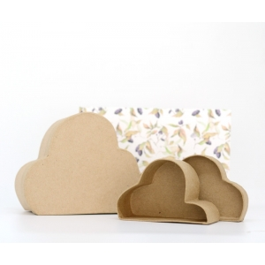 1 Caja nube cartón craft