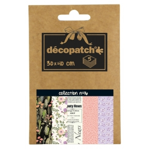 5 papeles decoupage pocket nº16
