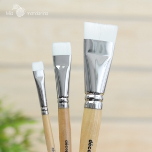 Set 3 Pinceles Decopatch